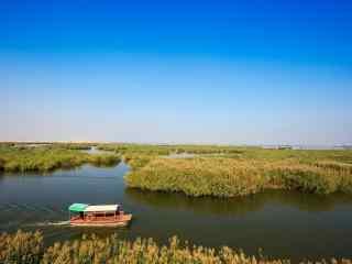 特色沙湖风景图片