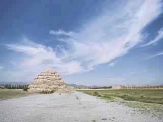 西夏王陵景区优美风景图片