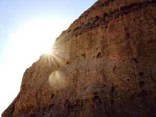 西夏王陵唯美阳光照射图片
