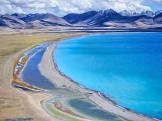 西藏纳木错圣湖唯美风景图片高清桌面壁