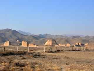 神秘西夏王陵遗址图片