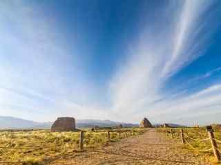 西夏王陵唯美天空风景图片