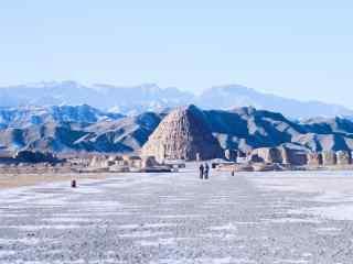 冬日西夏王陵景区风景图片
