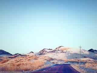贺兰山唯美雪山风光图片
