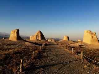 西夏王陵黄昏风景图片
