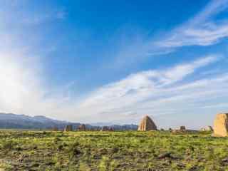 西夏王陵景区春色盎然风景图片