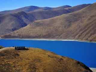 西藏羊湖唯美风景图片桌面壁纸