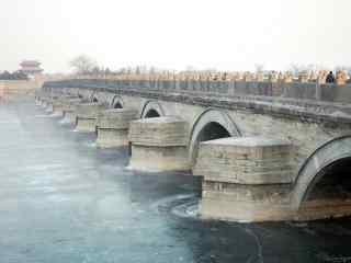 卢沟桥唯美风景图片壁纸