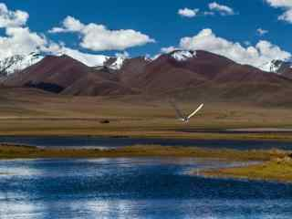 深秋时分的纳木错唐古拉山脉风景图片
