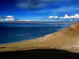 纳木错蓝天白云唯美风景图片