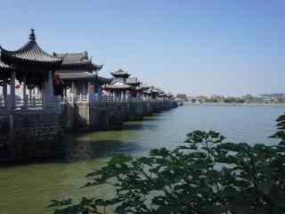 潮州广济桥风景图片桌面壁纸