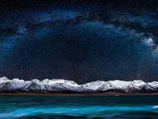纳木错唯美的高原星空夜景图片