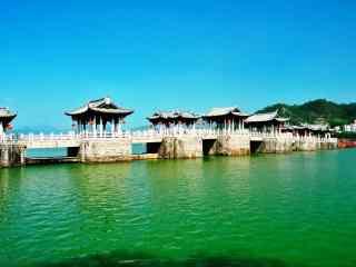 潮州广济桥小清新风景壁纸