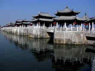 小清新潮州广济桥风景图片