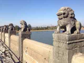 卢沟桥上的可爱狮子风景图片