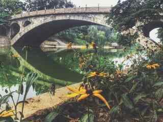 小清新赵州桥高清风景壁纸