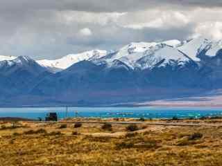 西藏圣湖玛旁雍错唯美雪山风景图片