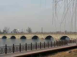 卢沟桥冬日风景图片