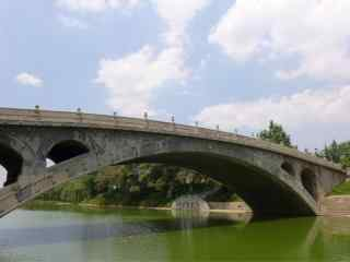 蓝天下的赵州桥风景壁纸