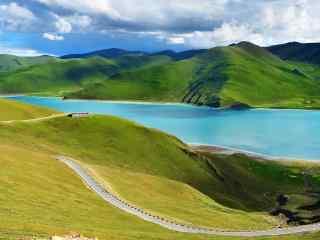 羊卓雍错唯美羊湖春色风光图片