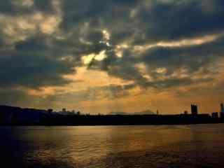 天边唯美曙光风景图片