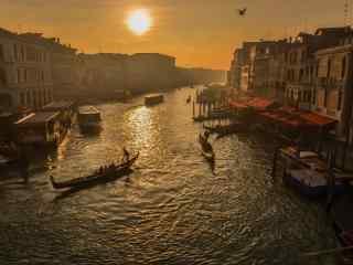 威尼斯小镇美丽日