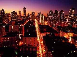 城市夜景-暧昧调风景壁纸