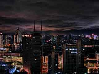 写实城市夜景图片壁纸