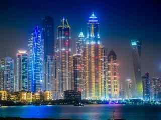 城市夜景摄影图片壁纸