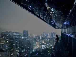 冷色调城市夜景图片壁纸