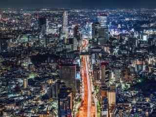 城市夜景-东京风景图片