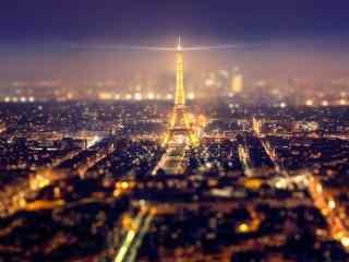 城市夜景-巴黎城市图片