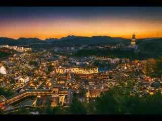 城市夜景之古北水镇风景