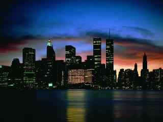 深沉的城市夜景图片壁纸