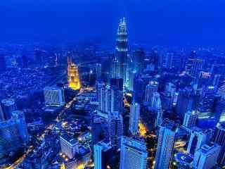 幽静唯美的城市夜景图片
