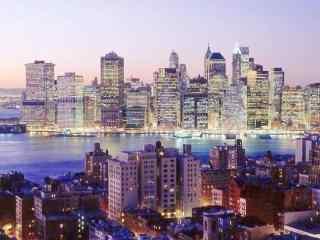 宛如白昼的城市夜景图片