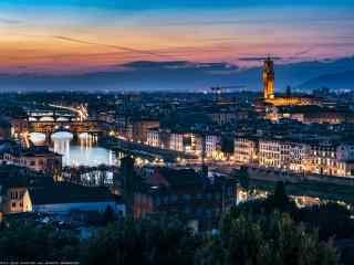 城市夜景-佛罗伦萨风景图片