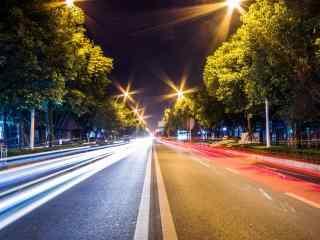 城市夜景创意街道摄影图片