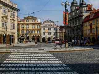 布拉格广场街道桌面壁纸