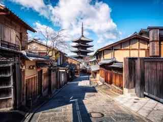 京都清水寺街道桌面壁纸