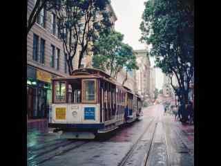 旧金山三番市街道桌面壁纸