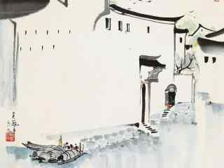 水墨江南风景高清电脑壁纸