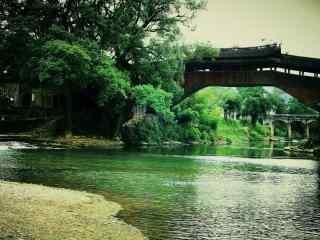 小桥流水江南人家风景高清桌面壁纸