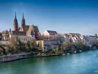 欧洲莱茵河河流桌