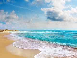 唯美大海与沙滩桌