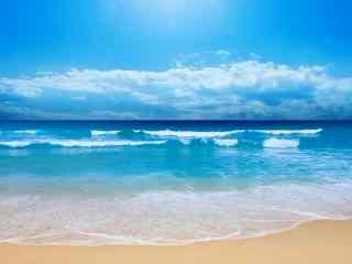蔚蓝色的大海桌面