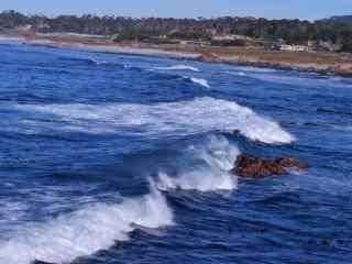 壮阔的海浪风景桌面壁纸