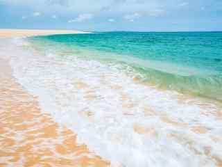 唯美的海浪风景桌面壁纸