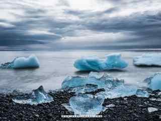 唯美冰岛上的沙滩