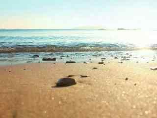清晨唯美夏日海边
